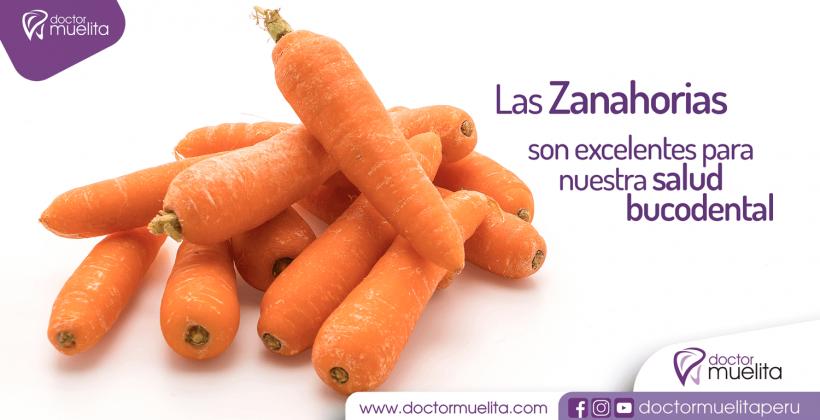 Las Zanahorias son excelentes para nuestra salud bucodental