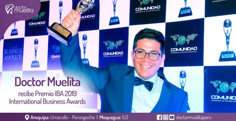 Doctor Muelita recibe el Premio IBA International Business Awards 2019