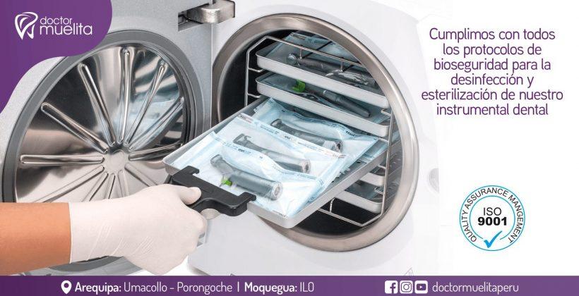 En Doctor Muelita cumplimos con todos los protocolos de bioseguridad de esterilización y desinfección