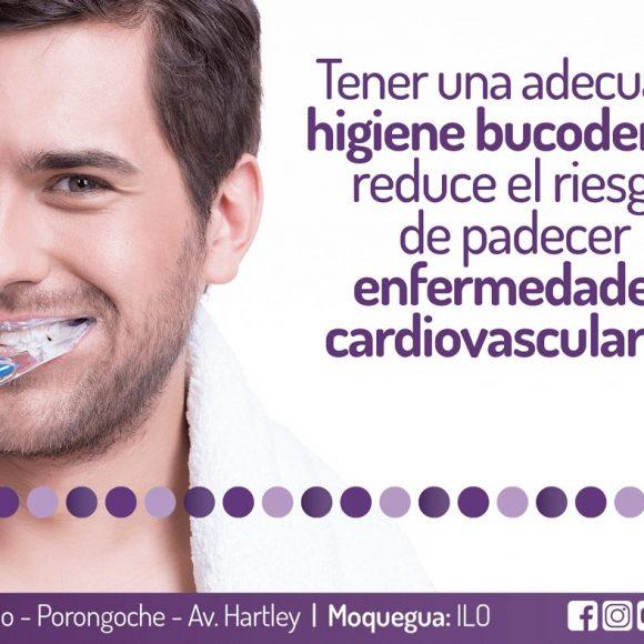 Tener una adecuada higiene bucodental reduce el riesgo de padecer de enfermedades cardiovasculares